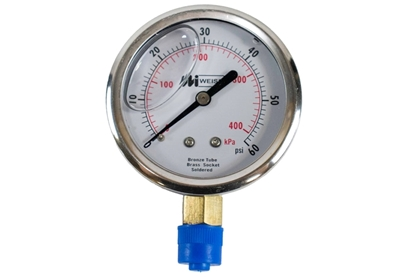 "2-1/2"" Liquid Filled Pressure Gauge"