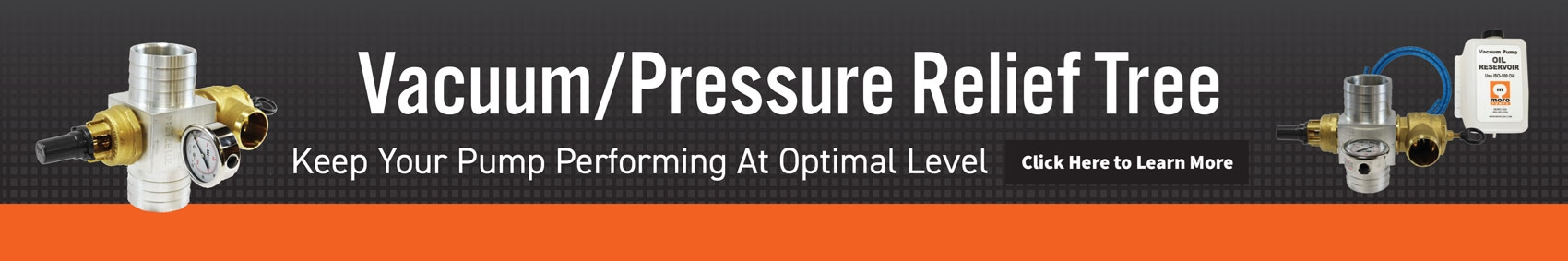 Vacuum/Pressure Relief Tree.  Keep your pump performing at optimal level.  Click here to learn more.