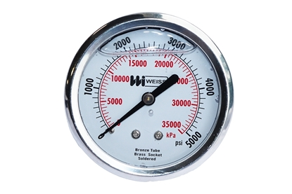 "2-1/2"" Liquid Filled Back Mount Pressure Gauge"