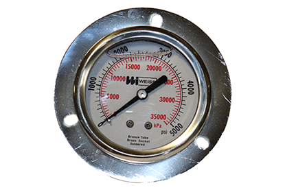 2-1/2 Liquid Filled Panel Mount Pressure Gauge