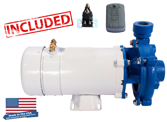 Moro USA DC - Cast Iron Washdown Pump with SS Impeller