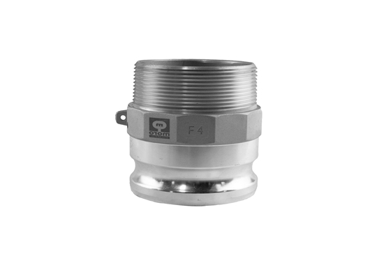 """Picture of 4"""" F Male Threaded to Male Quick Couple Adapter"""