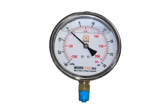 "Picture of 4-1/2"" Liquid Filled Bottom Mount Vacuum/Pressure Gauge"